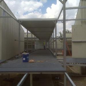 temporary construction pedestrian cover