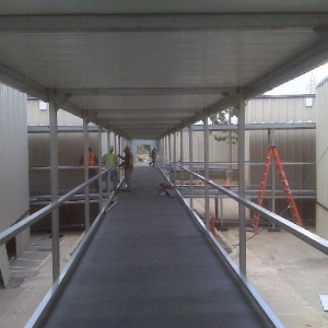 temporary walkway and canopy