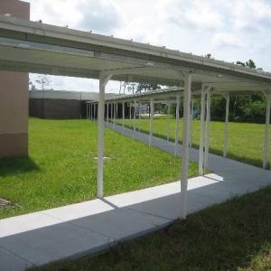 Temporary Canopy over Sidewalk