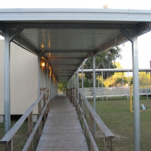 hamilton-elementary Temporary Walkway Cover