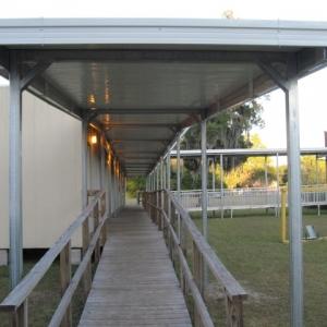 hamilton-elementary Temporary Walkway Cover